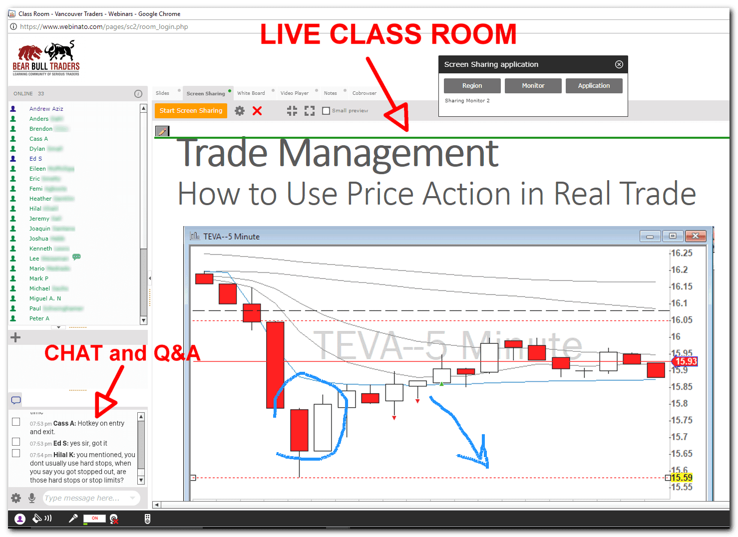 Classes are included in our day trading simulator package